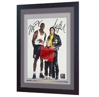 Michael Jordan Michael Jackson Macaulay Culkin signed photo print FRAMED