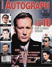 Autograph Collector Magazine. Aug 2000. James Woods, Angelina Jolie, Keitel.