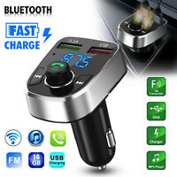 Bluetooth Car Wireless FM Transmitter Kit MP3 2 USB Charger Adapter Hands-free