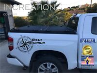 Compass Truck Decal Road Warrior Vinyl Graphics rear side bed Sticker Decal logo