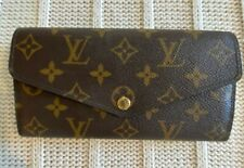 Louis Vuitton Sarah Wallet Monogram Brown Gold Hardware