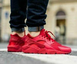 Nike Air Huarache Run 634835-601 Gym Red Women's Casual Running Shoes AUTHENTIC