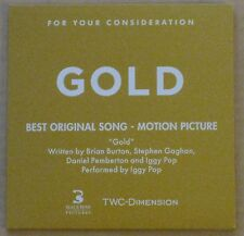GOLD 2016 BEST ORIGINAL SONG PROMOTIONAL CD FYC FOR YOUR CONSIDERATION IGGY POP