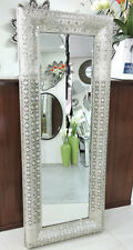 Rectangular interlace free standing mirror pewter mirror metal frame wall mirror