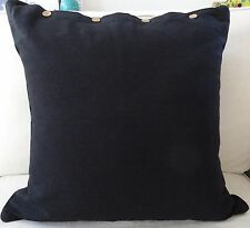"""LARGE CUSHION COVER 60 x 60 """"BLACK"""" GREAT SIZE FOR COUCH, FLOOR OR DAYBED"""
