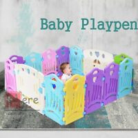 NEW Baby Playpen Kids 14 Panel Safety Play Center Yard Home Indoor Outdoor Fence