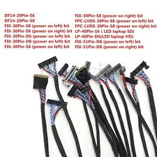 14PCS Universal LVDS Cable 20/30/40/51Pin For 10-65'' LCD LED Panel Screen Test