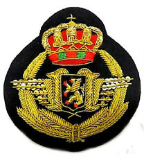 BELGIUM AIR FORCE PILOT HAT BADGE WWI WWII ERA NEW HAND EMBROIDERED CP MADE