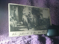 Antique Art Card (1904) Rustic Benevolence by F Wheatley Posted -FREE POSTAGE**