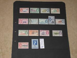 Cayman Islands 1953->59 QEII MNH Set Scott 135->149 CV$125+