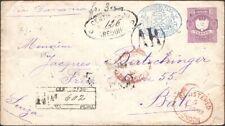 PERU, 1893. Reg AR Cover H&G B9, Arequipa - Bale, Switzerland