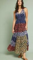 Anthropologie Dress Meadow Rue Petula Maxi Prairie Small UK 8 10 Summer Floral