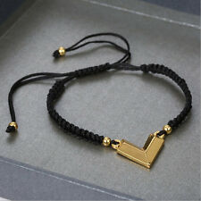 Anil Arjandas Men's Gold V Pendant 4mm Beads Fit Life Braiding Macrame Bracelets