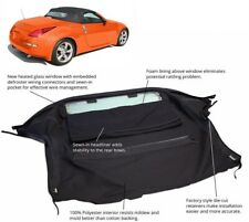 Fits: Nissan 350Z Convertible Soft Top & Heated Glass Window Black Twill
