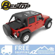 Bestop Bikini Safari Version 10-18 Jeep Wrangler Unlimited JK Mesh 52594-11