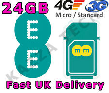 EE 4G PAYG 24GB 12 MONTHS INTERNET SIM CARD DATA PRE-LOADED 3G TABLET MIFI 12GB