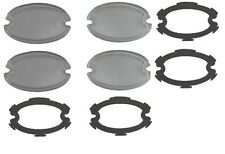1959 Cadillac Glass Fog Light Lens Set of 4 With Gaskets REPRODUCTION