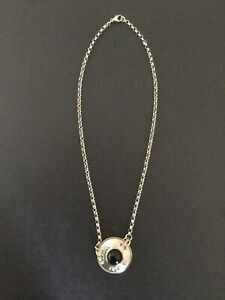 OLA GORIE Sterling Silver ORKNEY necklace GARNET stone NEW