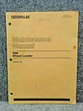 Oem Caterpillar Cat 988 Front End Wheel Loader Maintenance Manual Sebu5358 02