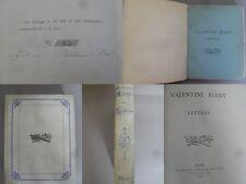 Valentine Riant - Lettres - 1884 - 1/100 ex de tête - grand papier - RARE