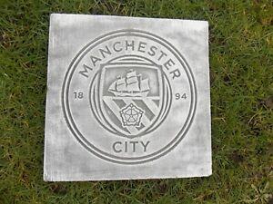 STONE HOME / GARDEN MANCHESTER CITY FOOTBALL CLUB PLAQUE ORNAMENT GIFT