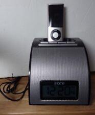 IHOME IH11 Black Docking Station Alarm Clock Charging Station iPod 3GS 4 4s