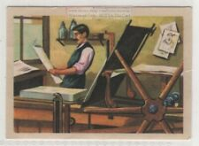 Early Lithography Printing Press Artist Workshop Vintage Ad Trade Card