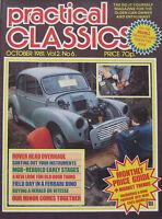 Practical Classics magazine 10/1981 featuring Ferrari Dino 246GTS, Triumph