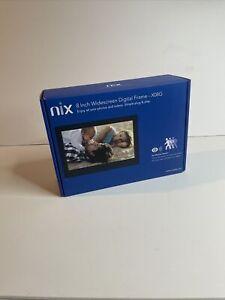 """NIX X08G - 8"""" Widescreen Hi-Res Digital Photo Frame With Sensor Open Box"""