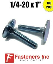Coarse Thread Grade 2 Elevator Bolt Low Carbon Steel Zinc Plated Pk 100 FT 3//8-16 x 1