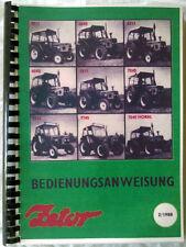Betriebsanleitung Traktor Zetor 5211 - 7745 no IFA Fortschritt MTS Belarus