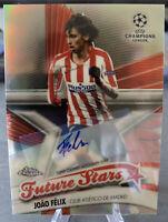 Joao Felix Future Stars 3/50 Autograph - 2020 Topps UEFA Chrome