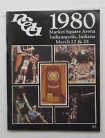 1980 NCAA Basketball Tournament Program Indianapolis Indiana
