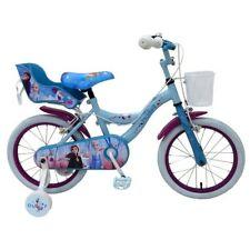 Kids 16 Inch Disney Frozen 2 Bike Girls 5 Years + Stabilisers with Basket NEW