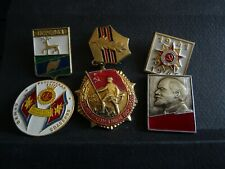Lot Lénine vintage Soviétique Lot de broches Red Émail pinback Collectible M 198