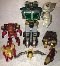 Power Rangers Wild Force Megazord Lot Polar Bear Bison Lion Konga Animus Shark