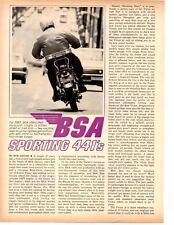 1967 441cc VICTOR SCRAMBLER MOTORCYCLE  ~ ORIGINAL 3-PAGE ARTICLE / AD