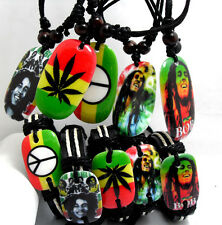 20 X(10 +10 ) Bob Marley mix  pendants black strings necklace Bracelets  jewelry