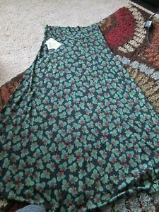 NWT NEW Lularoe Maxi-L Green / Red/ Blue Long Skirt ~~SHIPS FREE~~