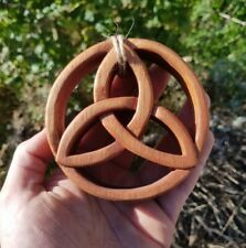 Mahogany Hand Carved Wooden Celtic Knot Wall Hanging Decor New