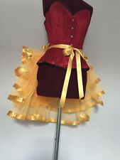 NEW Burlesque Bustle Belt Pale Orange Trimmed With Yellow Gold Satin Ribbon Trim