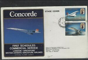 BAHRAIN COVER (PP1304BB) 1977 CONCORDE 80FX2 ON CACHETED FFC COVER