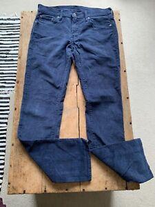 Levis 511 Corduroy Trousers Cords Blue Men's W 30 L 32