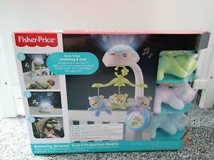 Fisher-Price 3-in-1 Traumbärchen Baby Mobile Spieluhr Nachtlicht u Fernbedienung
