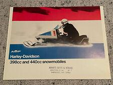 1973 AMF 398cc 440cc  HARLEY DAVIDSON SNOWMOBILE BROCHURE