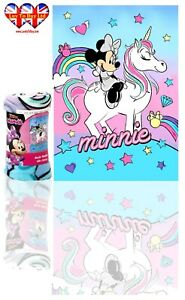 Minnie Mouse Unicorn Blanket ,Soft Touch Polar Fleece Blanket,Official Licenced