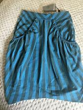 Alexander McQueen Striped Sass Tulip Skirt Dress
