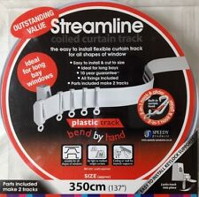 3.5m Bendable Curtain Track for Straight and Bay Window Rail Top or Face Fix