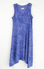 Columbia Womens Sleeveless Summer Dress Purple Hi-Low Hem V-Neck Cooling Size S