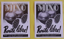 Old Advertising Alarms Electromagnetic MIXO PEUGEOT RENAULT 1950